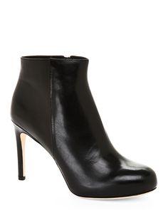 Via Spiga Black Bakel Round Toe High Heel Ankle Booties
