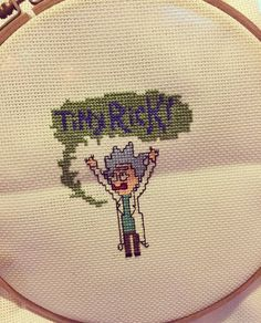 Rick and Morty cross stitch - Tiny Rick!