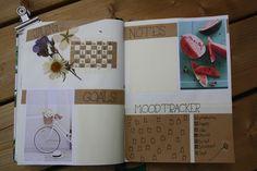 Bullet journal #5 - Juni, monthly spread Juni, Bullet Journal, Notes, Dreams, Happy, Blog, Handmade, Report Cards, Hand Made