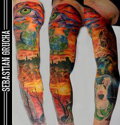 #tattoo#tattoos#tattoolife#tattoomap#tattooart#art#flash#slavee#full#color#dog#eye#sky#ink#inked#mantattoo#tatuaz#rekaw#kolorowy#follow#me#gruchatattooz