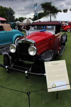 1928 Gardner Automobiles New Metal Sign Series 75 Convertible Roadster Pictured