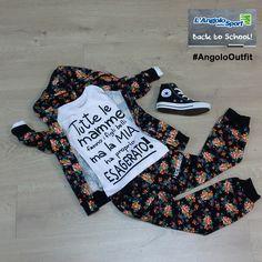 T-shirt, tuta #Happiness Scarpe #Converse #AngoloOutfit by Laura Laghetti #BackToSchool