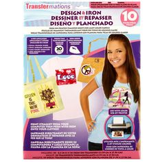 Transfermations™ Design & Iron Transfer Sheets for Light Colors, 10 Count