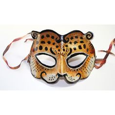 cda39315f2cb Big Cat Jaguar Mask for Halloween and Masquerade Made-to-order (130 CAD) ❤  liked on Polyvore featuring costumes