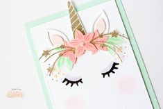 Seven Easy Ways To Make Your Cards Sparkle, Shimmer And Shine - Magical Unicorn Cards — Sprinkled With Glitter Unicorn Birthday Cards, Girl Birthday Cards, Horse Birthday, Homemade Birthday Cards, Homemade Greeting Cards, Homemade Cards, Shabby Chic Unicorn, Horse Cards, Unicorn Crafts