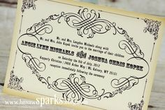 Vintage Wedding Invitation  Printable  DIY  The Old by HeSawSparks, $25.00