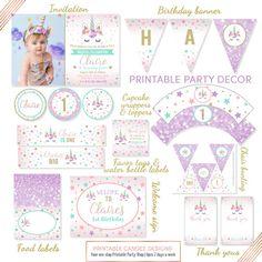 No foto invitación de cumpleaños de unicornio unicornio