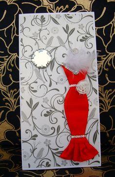 SALE Rose Personalised Dress Card / Handmade Greeting by BSylvar, $8.00