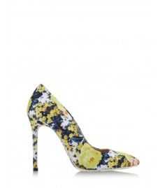 MSGM Floral Pump - Mary Katrantzou teams up with Gianvito Rossi for a set of graphic floral footwear. http://shop.harpersbazaar.com/blog/whats-in-store-mary-katrantzou-gianvito-rossi