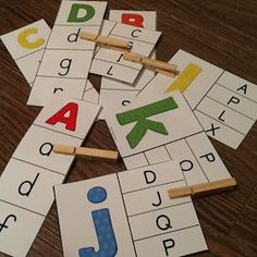 French alphabet – 2 jeux d'association – Ensemble – Bundle Alphabet Activities Kindergarten, Alphabet Games, Letter Activities, Learning The Alphabet, Montessori Activities, Preschool Lessons, Preschool Classroom, Preschool Learning, Kindergarten Activities