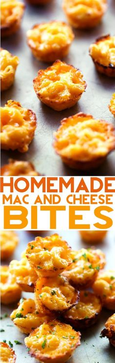 Homemade Mac and Cheese Bites - 16 Fast and Fun Finger Foods | GleamItUp