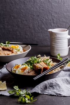 Slices of roasted pork belly, soft egg and noodles in a kick-ass broth. This ramen will knock your socks off.