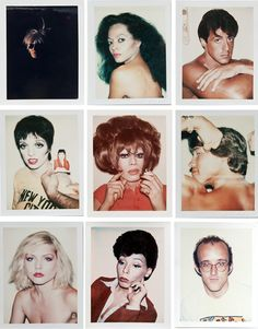 Andy Warhol polaroids. More At FOSTERGINGER @ Pinterest ⛵️❤️️