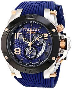 MULCO Unisex MW5-2029-045 Analog Display Swiss Quartz Blue Watch MULCO