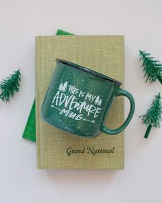 This is my adventure mug. about this mug This speckled stoneware mug is a playful nod to the vintage enamel mugs that won camper's hearts. This is the perfect pine-colored cup to toast and cheers to t