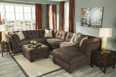 "Liberty Lagana Furniture in Meriden, CT: The ""Delta City: Chocolate"" Sectional by Ashley Furniture"