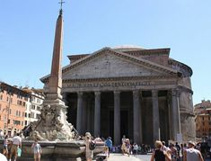 The Pantheon is a former Roman temple, now a church, on the site of an earlier temple commissioned by Marcus Agrippa during the reign of Augustus (27 BC – 14 AD).