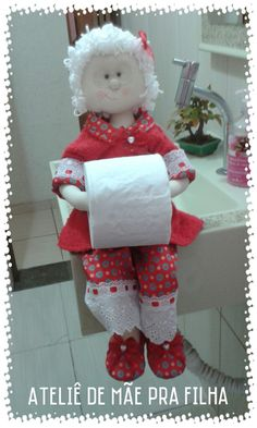 Toilet Paper, Elsa, Diy And Crafts, Sewing Patterns, Mexico, Chic, Christmas, Papa Noel, Creative Decor