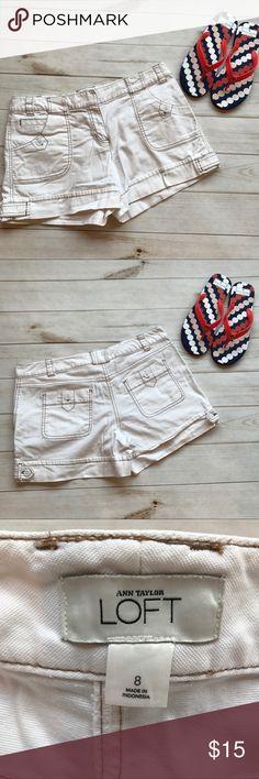 Ann Taylor Loft Size 8 shorts Ann Taylor Loft Size 8 shorts  4 inch inseam 10 inch rise no flaws non-smoking home LOFT Shorts