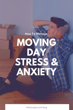 Here are some simple ways to deal with moving stress to keep you and your family happy during the big transition. #movingstress #movingout #anxiety #howtomanage