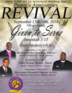 Genesis Baptist Church - REVIVAL Promotional Flyers by Robert ...