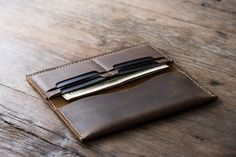 iPhone 6 PLUS Wallet Clutch Case - Leather iPhone Wallet Case - Rustic Signature Hand-Stitching by JooJoobs Iphone Wallet Case, Clutch Wallet, Iphone Cases, Distressed Leather, Leather Men, Leather Bags, Gif Disney, Leather Keychain, Long Wallet