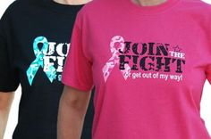 Show you are fighting the battle for a cure for cancer