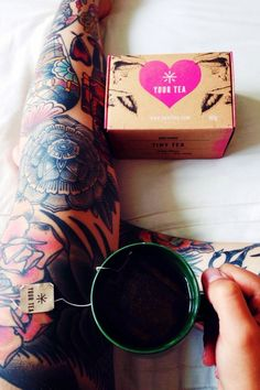 Tiny Tea for healthy weight loss, bloating, digestion, skin, mood and more. #ink #tattoo #tea