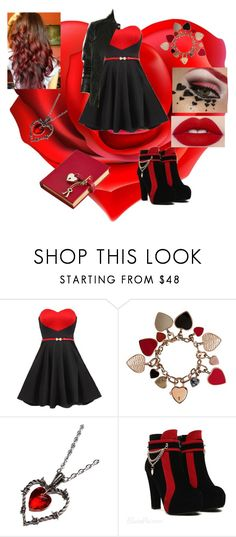 """Princess of hearts (Daughter of the queen of hearts)"" by mad-hatter-17 ❤ liked on Polyvore featuring Burberry, Alchemy England, Kat Von D and Amara"