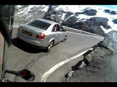 Swiss biker fall down on the Stelvio