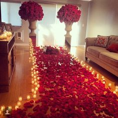 What Better Way To Start Off The Month Of September Than With This Romantic Proposal Intricacy From Bed Roses And Candlescape Is Nothing