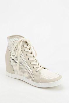 Deena & Ozzy Mesh Hidden Wedge High-Top Sneaker