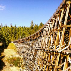 A short detour from Vancouver Island's Trans-Canada Highway near Shawnigan Lake will land you at the historic Kinsol Trestle by TranBC, via Flickr