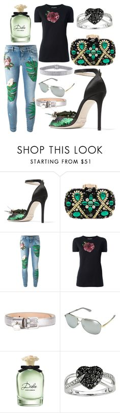 """Tiff's"" by seniorswayout ❤ liked on Polyvore featuring Jimmy Choo, Dolce&Gabbana and Ice"