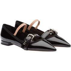Miu Miu BALLERINA (£470) ❤ liked on Polyvore featuring shoes, flats, mary jane shoes flats, flat shoes, t-strap mary janes, ballet shoes and strappy ballet flats