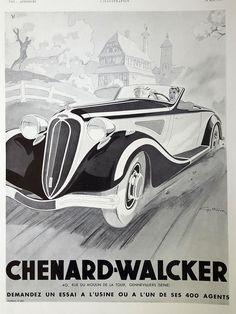 Ill. Géo Ham, Automobiles CHENARD WALCKER 1936