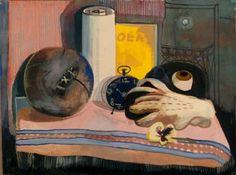 Still-life with Mask, Glove, and Football, c.1940, Felix Nussbaum