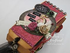 And Then There Were Five Mini Scrapbook Album  by Andrea Walford Cover