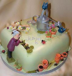 Image detail for -Cake Garden Garden Birthday Cake, 70th Birthday Cake, Adult Birthday Cakes, Birthday Cakes For Women, Mary Birthday, Dad Cake, Grandma Cake, Cake Boss, Paul Cakes