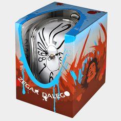 Dali clock packaging #design #packaging