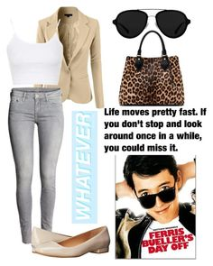 """""""Ferris Buellers Day Off"""" by parsonalexia ❤ liked on Polyvore featuring Topshop, Calvin Klein, 3.1 Phillip Lim, Diane Von Furstenberg, women's clothing, women, female, woman, misses and juniors"""