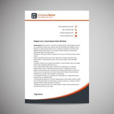 Business letterhead Template Company Letterhead Template, Letterhead Design, Letterhead Business, Powerpoint Design Templates, Twitter Tips, Business Icon, Online Advertising, Create Website, Company Names