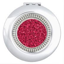"""Jewels"" Ruby _JULY BIRTHSTONE Compact Mirror"