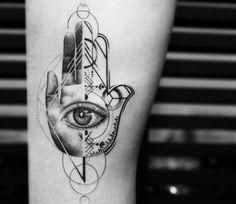 Hamsa Hand tattoo by Balazs Bercsenyi