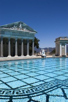 designed by Julia Morgan for William Randolph Hearst....so grateful I was able to swim in this very pool 5 times while working for the Museum of Natural History. Such a life I've led.  This pool is COLD!  Never was a heated pool.