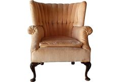 Pink Tufted Armchair