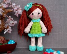 Crochet doll crochet toy knit doll knit toy by HappyWaldorfDolls