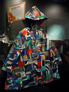 28bfb65f7c01 A raincoat entirely made from recycling bags. Recycling Bags