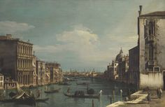 .:.Bernardo Bellotto VENICE, A VIEW OF THE GRAND CANAL LOOKING EAST FROM THE CAMPO DI SAN VIO, TO THE LEFT THE PALAZZO CORRER