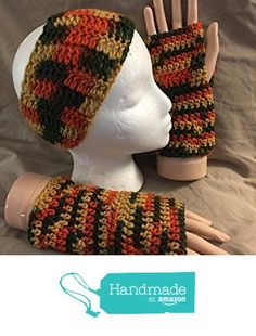 Crochet headband / ear warmer & texting/fingerless glove gift set - fits most teens & adults - Great Fall colors of gold, orange & green - smoke free - pet free - free shipping to USA from PMSCRAFTS https://www.amazon.com/dp/B01KYDCHVM/ref=hnd_sw_r_pi_dp_eldayb718NTDE #handmadeatamazon